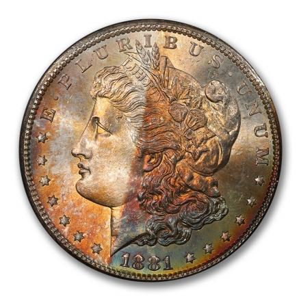 1881-S $1 Morgan Dollar PCGS MS68 (CAC) #2842-1