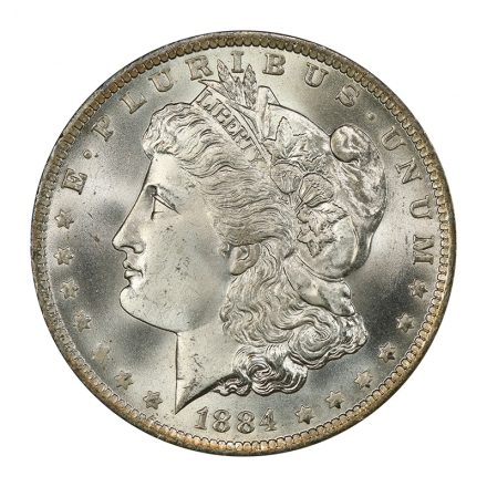 1884-O $1 Morgan Dollar PCGS MS67+ (CAC) #3045-8 WHITE