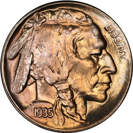 1935-D 5C Buffalo Nickel PCGS MS67 #3281-13