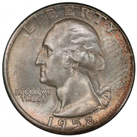 1958 25C Washington Quarter PCGS MS67 #3281-29