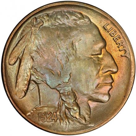 1924 5C Buffalo Nickel PCGS MS66 #3281-11