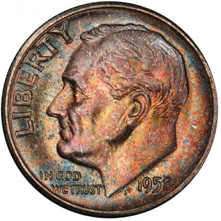 1958 10C Roosevelt Dime PCGS MS67+ #3281-23