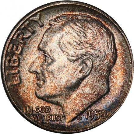 1958 10C Roosevelt Dime PCGS MS67+ #3281-22