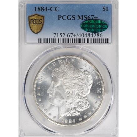 1884-CC $1 Morgan Dollar PCGS MS67+ 3312-5