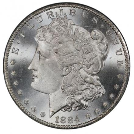 1884-CC $1 Morgan Dollar PCGS MS67+ (CAC)  #3312-5