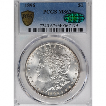 1896 $1 Morgan Dollar PCGS MS67+ 3312-2