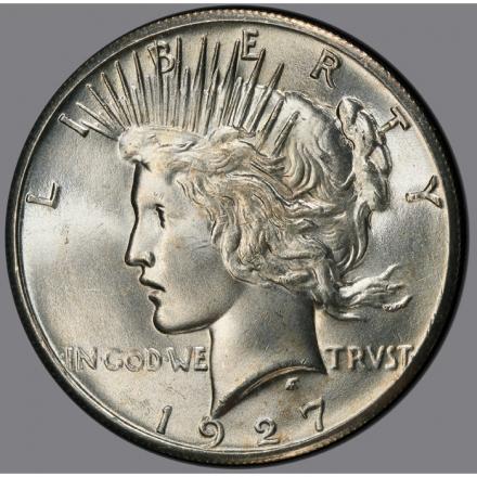1927 $1 Peace Dollar PCGS MS65 #3280-2