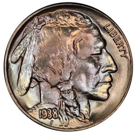 1938-D 5C Buffalo Nickel PCGS MS67+ 3294-8 (CAC)