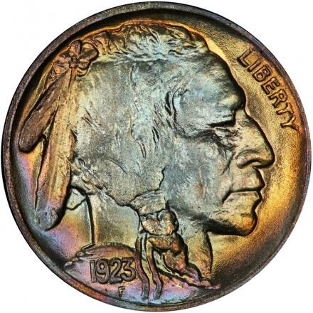 1923 5C Buffalo Nickel PCGS MS67 #3281-10