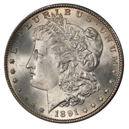 1891-S $1 Morgan Dollar PCGS MS64 3293-13