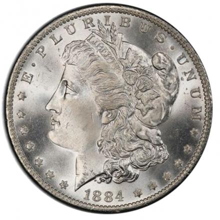 1884-O $1 Morgan Dollar PCGS MS67 3289-4 (CAC)
