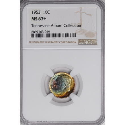 1952 Roosevelt Dime (Silver) 10C NGC MS67+ 3294-12