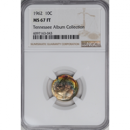 1962 Roosevelt Dime (Silver) 10C NGC MS67FT 3294-17