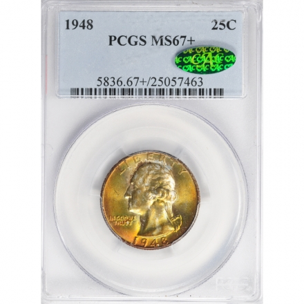 1948 25C Washington Quarter PCGS MS67+ #3281-28