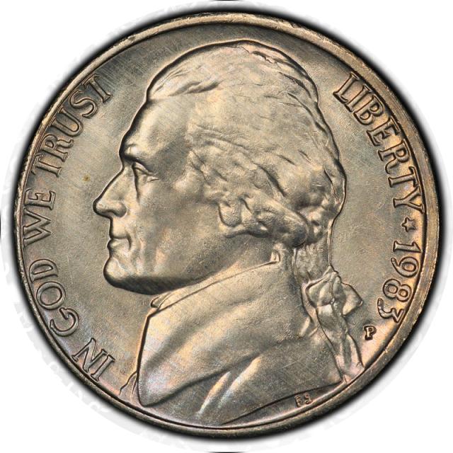 1966 5C Jefferson Nickel PCGS MS67 #3350-7