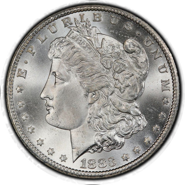 1883-CC $1 Morgan Dollar PCGS MS67+ (CAC) #3332-23