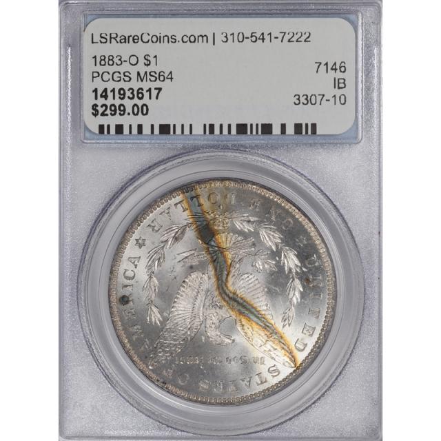 1883-O $1 Morgan Dollar PCGS MS64 3307-10