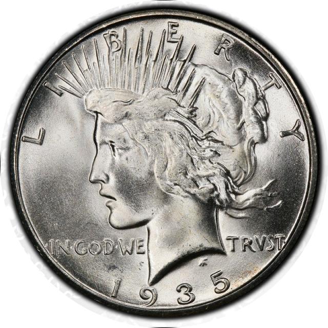 1935-S $1 Peace Dollar PCGS MS98 #3351-5