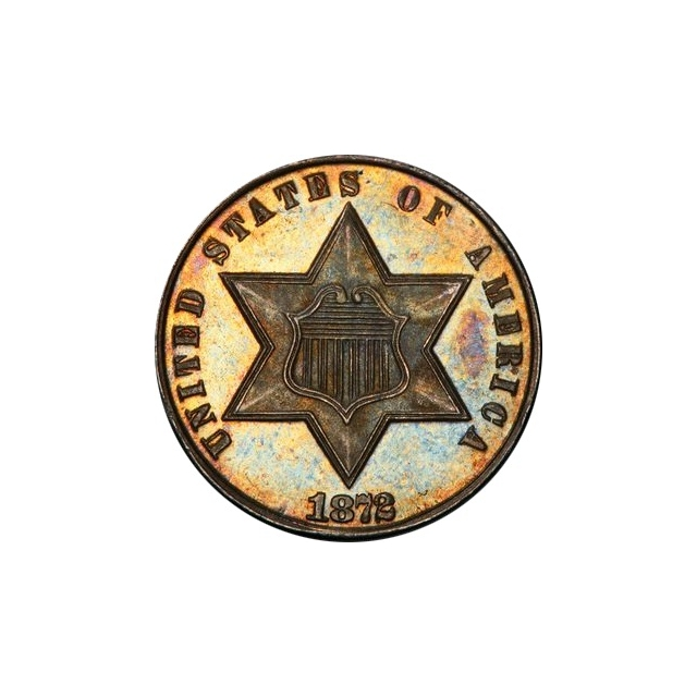 1872 3CS Three Cent Silver PCGS PR66 (CAC)