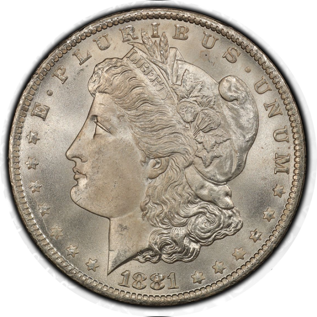 1881-CC $1 Morgan Dollar PCGS MS67 #3332-15