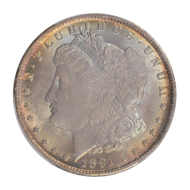 1891-O $1 Morgan Dollar PCGS MS64+ #3148-47 COLOR