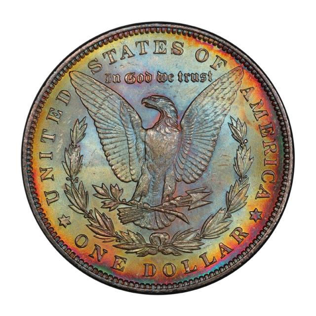 1896 $1 Morgan Dollar PCGS MS67 #3148-25 COLOR!