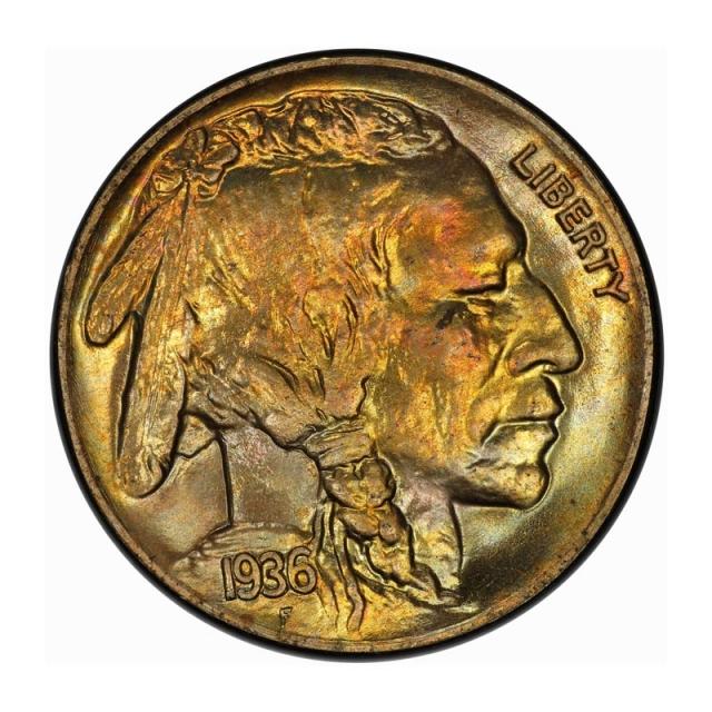 1936 5C Satin Buffalo Nickel PCGS PR67 #3267-18