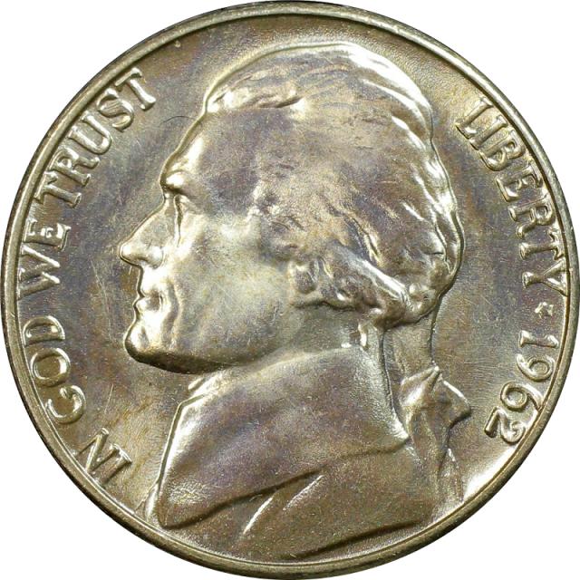 1962 5C Jefferson Nickel PCGS MS67+FS #3350-6