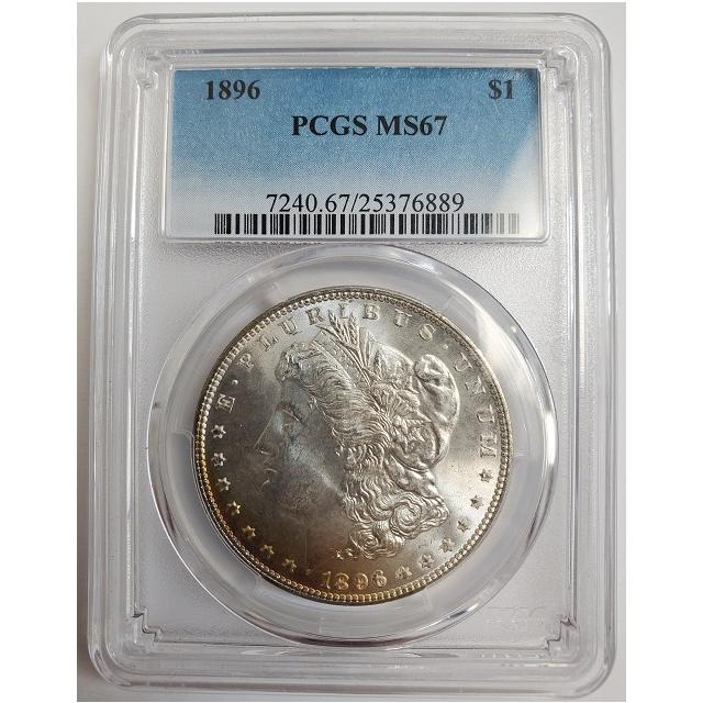 1896 $1 Morgan Dollar PCGS MS67 #3332-68