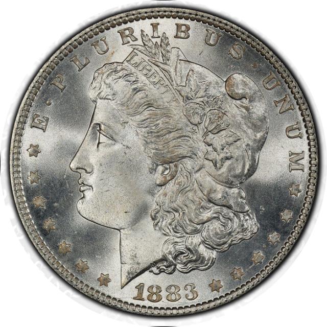 1883 $1 Morgan Dollar PCGS MS67+ #3331-2 (CAC)
