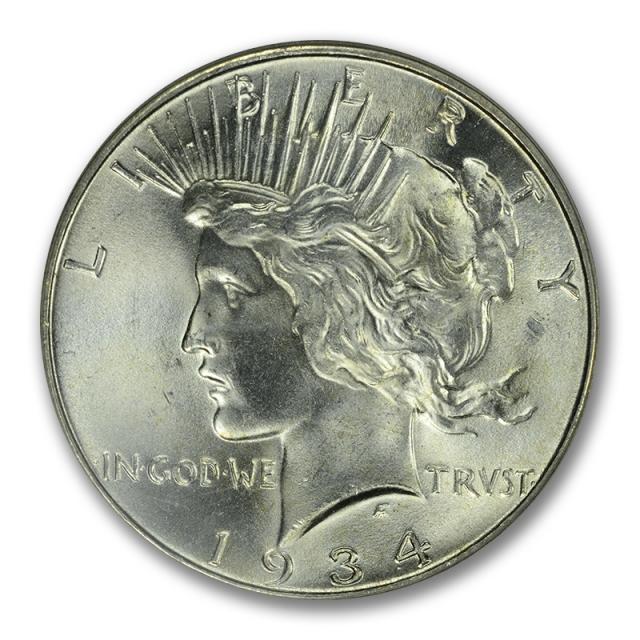 1934 $1 Peace Dollar PCGS MS66+ #3009-2