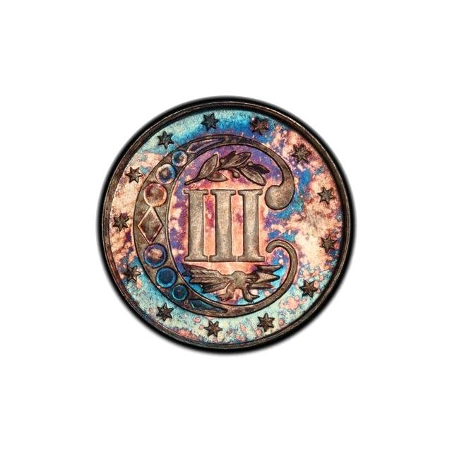 1871 3CS Three Cent Silver PCGS MS66+ (CAC)