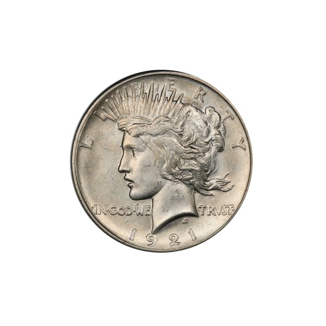 1921 $1 Peace Dollar - Type 1 High Relief PCGS MS62 #3295-2