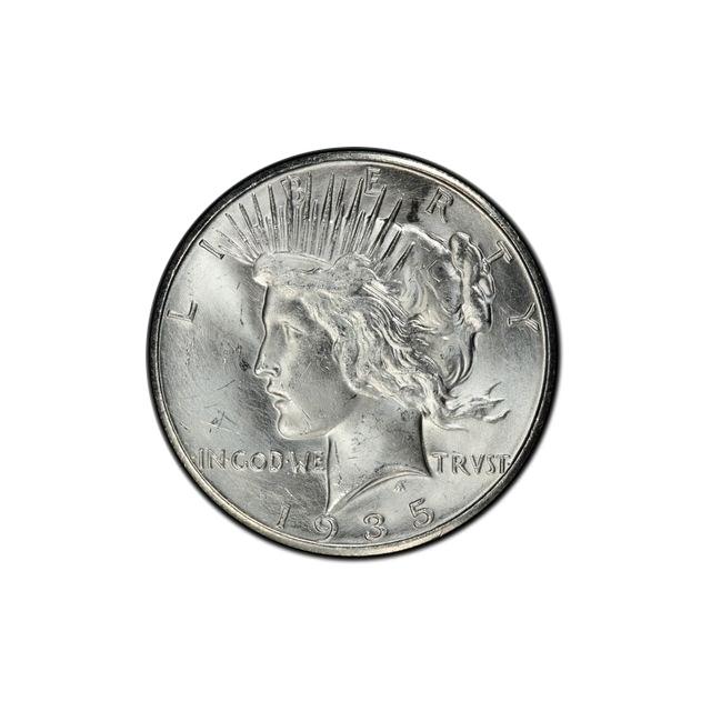 1935-S $1 Peace Dollar PCGS MS64+
