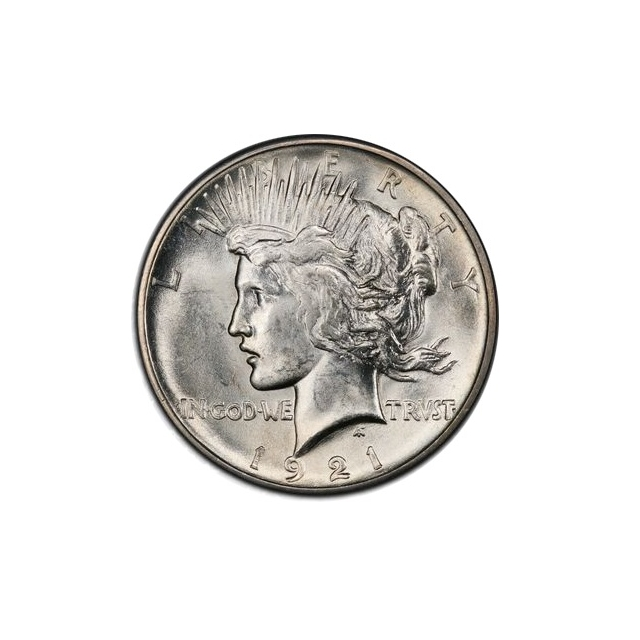 1921 $1 Peace Dollar - Type 1 High Relief PCGS MS62