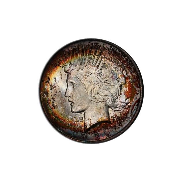 1922 $1 Peace Dollar PCGS MS64 #3298-1 Toner