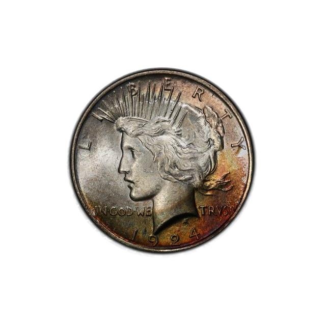 1924 $1 Peace Dollar PCGS MS63 #3298-14