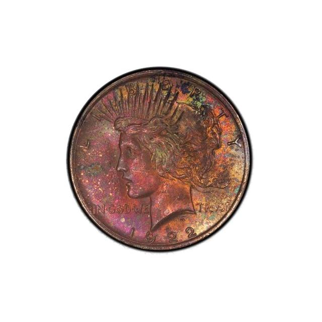 1922 $1 Peace Dollar PCGS MS64 #3298-18 Toner