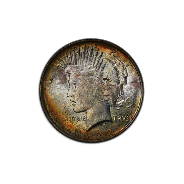 1922 $1 Peace Dollar PCGS MS63 (CAC) #3298-19 Toner