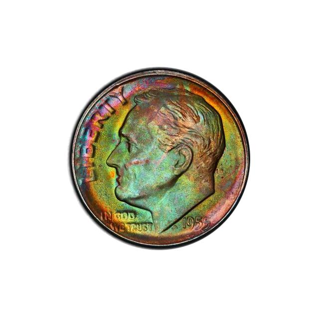 1955-S 10C Roosevelt Dime PCGS MS67+ #3328-5