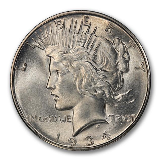 1934-D $1 Peace Dollar PCGS MS66 #2857-5