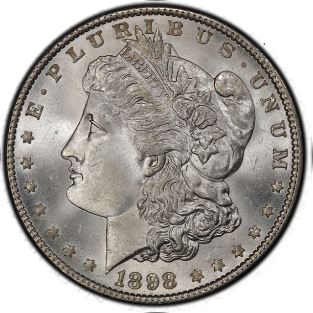 1898 $1 Morgan Dollar PCGS MS67 #3332-74