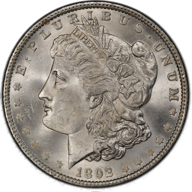 1892 $1 Morgan Dollar PCGS MS65 #3332-55
