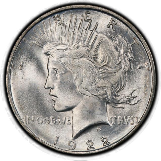 1922-D $1 Peace Dollar PCGS MS66+ (CAC) #3347-9