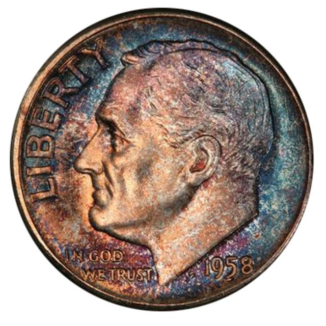1958 10C Roosevelt Dime PCGS MS67+ 3294-15
