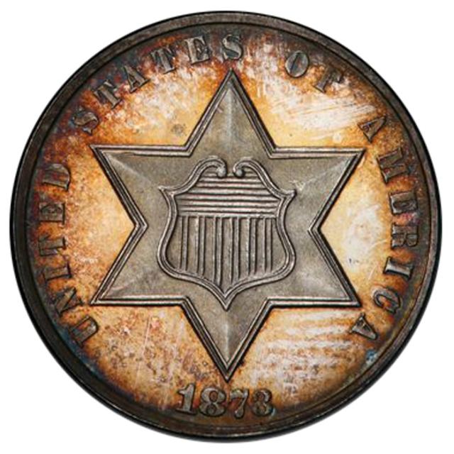 1873 3CS Three Cent Silver PCGS PR64+ #3293-19