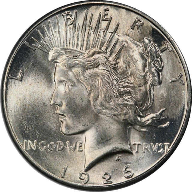1926-S $1 Peace Dollar PCGS MS66 (CAC) #3334