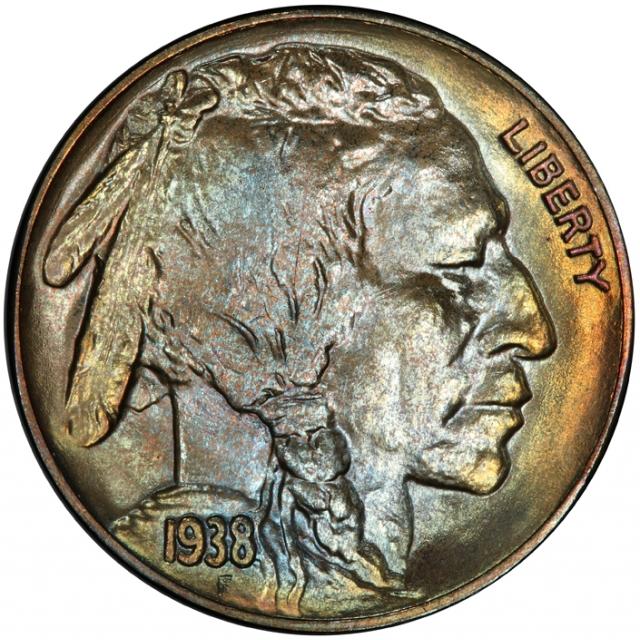 1938-D 5C Buffalo Nickel PCGS MS68 #3281-16