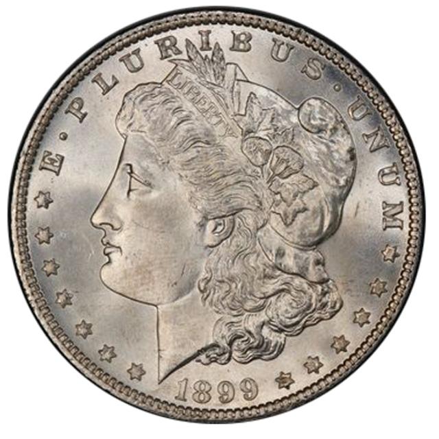 1899 $1 Morgan Dollar PCGS MS66+ 3291-2 (CAC)