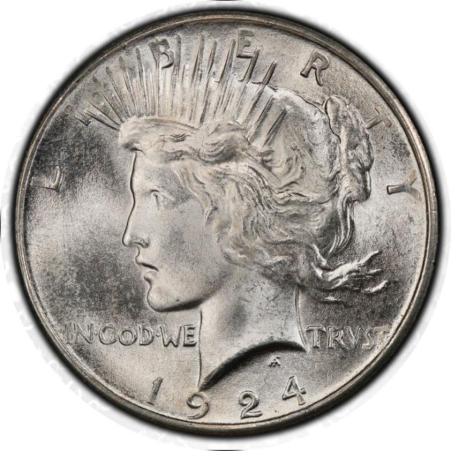 1924 $1 Peace Dollar PCGS MS67 #3347-10